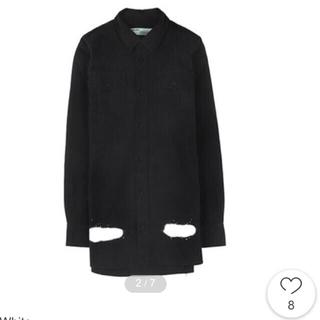 オフホワイト(OFF-WHITE)のoffwhite 17ss オーバーサイズシャツ 黒(シャツ/ブラウス(長袖/七分))