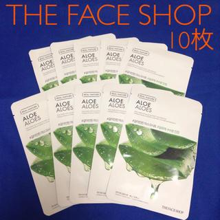 ザフェイスショップ(THE FACE SHOP)の★タイムセール★10枚セット★ THE FACE SHOP アロエフェイスマスク(パック/フェイスマスク)