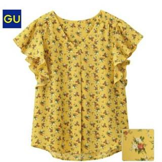 ジーユー(GU)のブラウス (シャツ/ブラウス(半袖/袖なし))