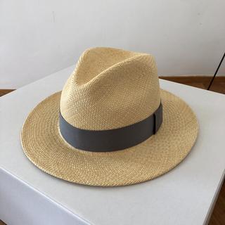 アッシュペーフランス(H.P.FRANCE)の【新品、未使用】maison couleur narrow panama hat(ハット)