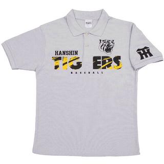 ハンシンタイガース(阪神タイガース)の阪神タイガース ポロシャツ グレー Lサイズ(応援グッズ)