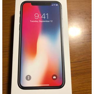 アップル(Apple)の新品未使用品 iphonex 64gb 黒 ○判定 SIMロック解除済 4月購入(スマートフォン本体)