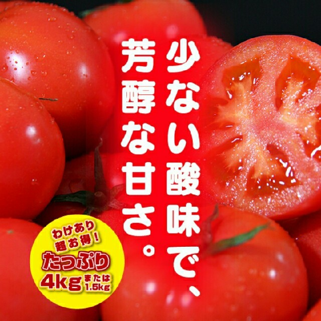 オマケ付【訳あり】ソムリエトマト4㎏(16玉~30玉) 食品/飲料/酒の食品(野菜)の商品写真