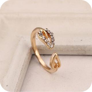 ゴールドリング ファッション キラキラ(リング(指輪))