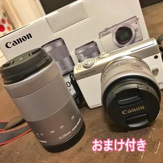 Peachy様専用 Canon EOS M100 ダブルレンズ ホワイト(ミラーレス一眼)