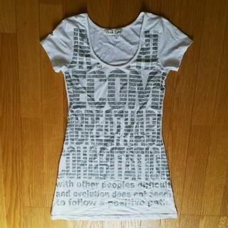 Lady*細身ロングTシャツ、英字Tシャツワンピース(Tシャツ(半袖/袖なし))