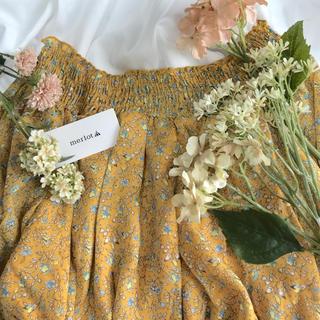 メルロー(merlot)のmerlot 小花柄オフショル2wayワンピース イエロー(ロングワンピース/マキシワンピース)