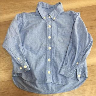 MUJI (無印良品) - 無印良品 子どもシャツ 100㎝ kids
