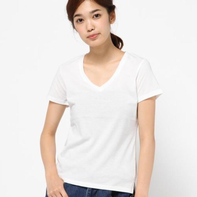 新品 未使用 Vネック白T長袖 SISLEY シスレー - 服/ファッション
