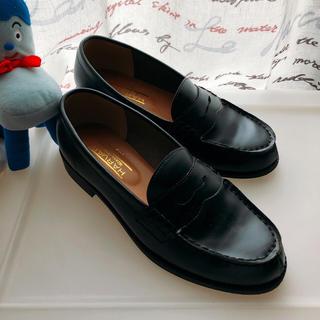 ハーヴァード(HARVARD)の黒ローファー 24.0㎝(ローファー/革靴)