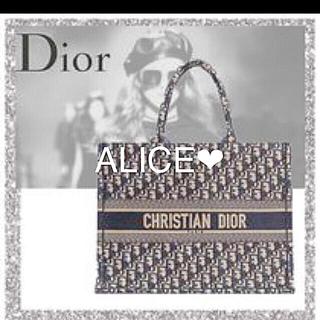 クリスチャンディオール(Christian Dior)の超激レア❤️クリスチャン ディオール ブックトートバッグ トロッター新品ブルー(トートバッグ)