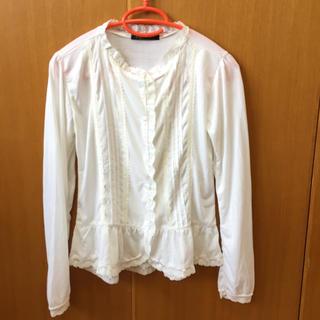 アーバンリサーチ(URBAN RESEARCH)の白ブラウス レース 刺繍 レトロ(シャツ/ブラウス(長袖/七分))