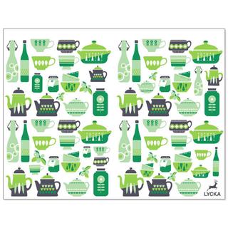 LYCKAオリジナル転写紙 「kitchen」緑(各種パーツ)