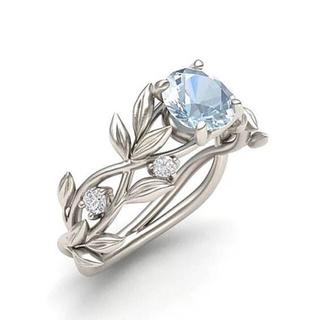 オシャレ リング 指輪  ライトブルー 【海外サイズ:8号】(リング(指輪))