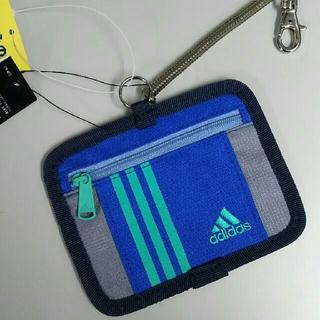 アディダス(adidas)の新品 アディダス パスケース・ブルー(名刺入れ/定期入れ)