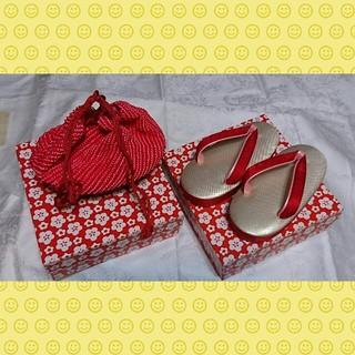 【値下げ!】草履と巾着セット 1歳用(下駄/草履)