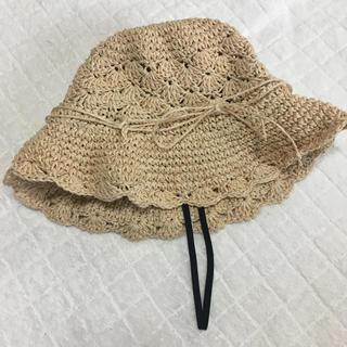 ムジルシリョウヒン(MUJI (無印良品))の無印良品 子供用 麦わら帽子 52cm(帽子)