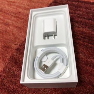 アイフォーン(iPhone)のiPhone純正アダプタ&ケーブル(変圧器/アダプター)