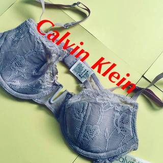 カルバンクライン(Calvin Klein)のCalvin Klein ブラジャー 下着 未使用 パープル 34C レース(ブラ)