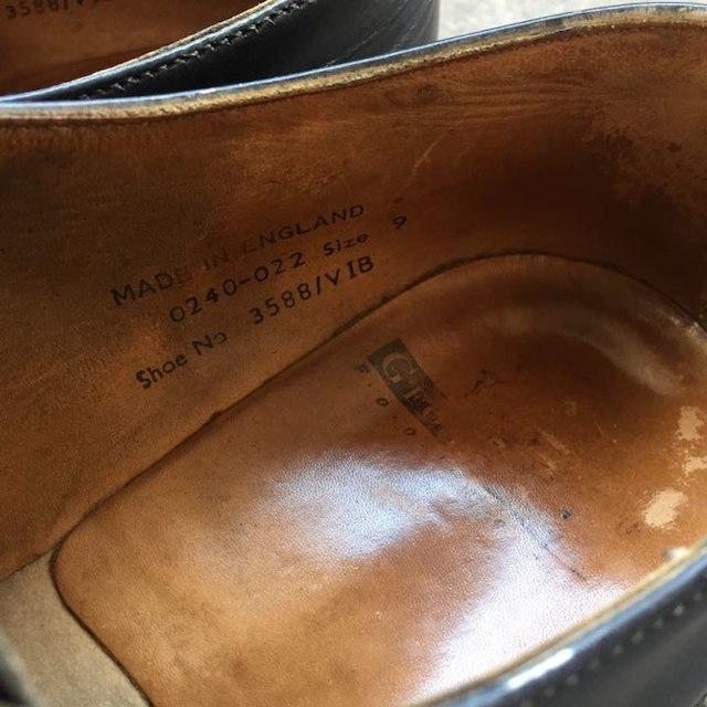 GEORGE COX(ジョージコックス)のGEROGE COX ラバーソール UK9 黒 ブラック メンズの靴/シューズ(ドレス/ビジネス)の商品写真