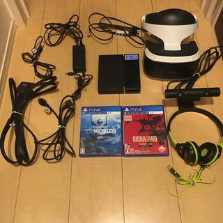 プレイステーションヴィーアール(PlayStation VR)の美品 PSVR 本体 CUHJ-16001 カメラ同梱版  バイオ WORLD(家庭用ゲーム機本体)