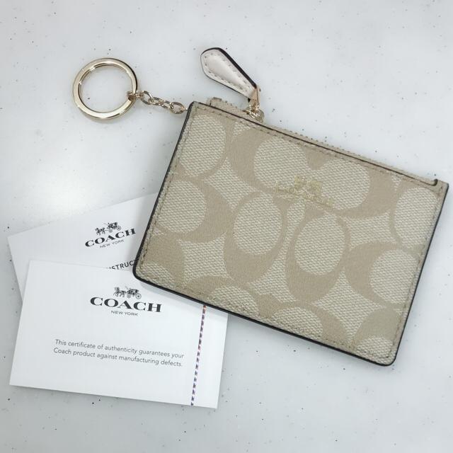 afd20b614c61 COACH - 新品♡♡ COACH コインケース カードケース 定期入れ ホワイトの ...