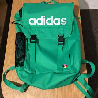 アディダス(adidas)のももクロ ポシュレ リュック 緑(アイドルグッズ)
