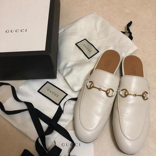 グッチ(Gucci)のGucci プリンスタウン ローファー ホワイト(ローファー/革靴)