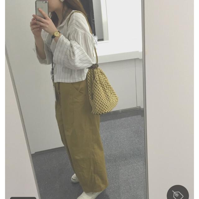 Kastane(カスタネ)のま 様 専用!!Kastane リネンストライプシャツ レディースのトップス(シャツ/ブラウス(半袖/袖なし))の商品写真