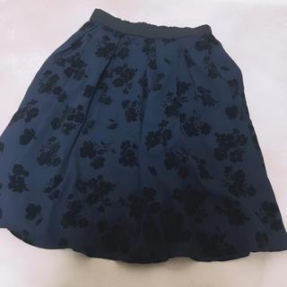 しまむら HK 花柄 スカート(ひざ丈スカート)
