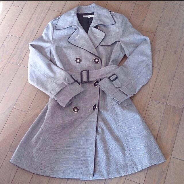 JAYRO White(ジャイロホワイト)のチェック柄トレンチ レディースのジャケット/アウター(トレンチコート)の商品写真