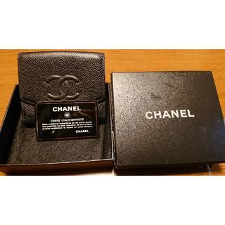 シャネル(CHANEL)のCHANELキャビアスキン二つ折り財布(その他)