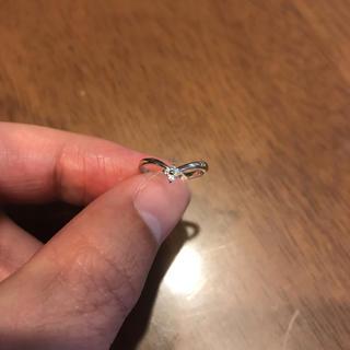 プラチナ900 ダイヤ0.03カラット サイズ2号 ことりちゃんさん専用(リング(指輪))