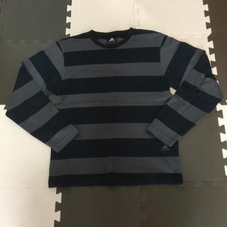 アディダス(adidas)のADIDAS アディダス ボーダー シャツ ロンT(Tシャツ/カットソー(七分/長袖))