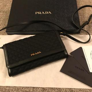 プラダ(PRADA)のはなちゃん様専用!プラダ PRADA 新品 ショルダー ウォレットブラック(財布)