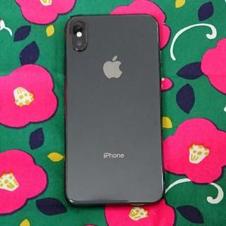 エヌティティドコモ(NTTdocomo)のiPhoneX 64GB スペースグレー SIMフリー(携帯電話本体)