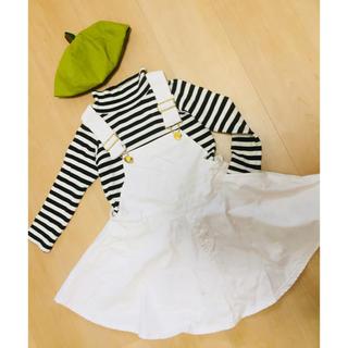 ブリーズ(BREEZE)のお値下げ breeze 白デニムジャンパースカート(スカート)