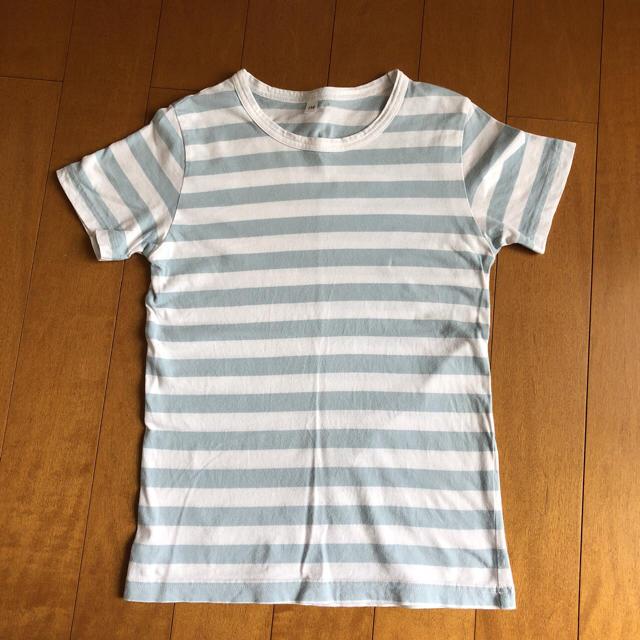 ケイティさんの「毎日のこども服しましま半袖Tシャツ キッズ120・ネイビー