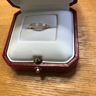 カルティエ(Cartier)のカルティエ バレリーナカーブハーフエタニティダイヤリング美品(リング(指輪))