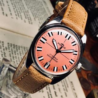 フォルティス(FORTIS)の80's Vint. FORTIS 手巻きメンズウォッチ OH済み サーモンP(腕時計(アナログ))