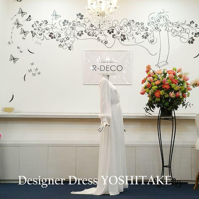 ウエディングドレス 二次会用 スレンダーシフォンドレス レディースのフォーマル/ドレス(ウェディングドレス)の商品写真