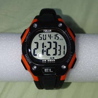 TELVA  デジタル時計(腕時計(デジタル))