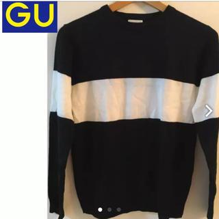 ジーユー(GU)のGU ブロックカラー ニット メンズSサイズなので女性にもオススメ☆(ニット/セーター)
