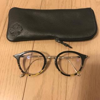 クロムハーツ(Chrome Hearts)のクロムハーツ 眼鏡 丸眼鏡 黒縁メガネ べっ甲柄 ラウンド サングラス(サングラス/メガネ)