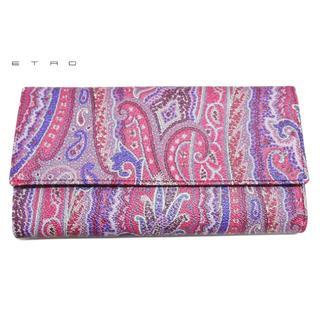 エトロ(ETRO)のエトロ ペイズリー柄 三つ折り長財布 ピンク ETRO(財布)