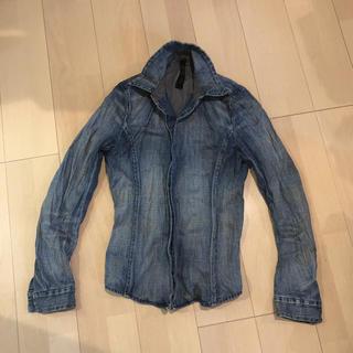 ダブルジェーケー(wjk)の美品 wjk デニムシャツ フックシャツ 4フック s(シャツ)