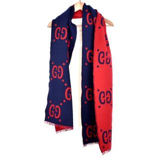 Gucci - GUCCI グッチ ゴースト ウール マフラー ストール スカーフ 国内 正規品