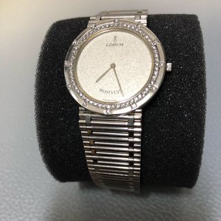 コルム(CORUM)の金無垢より希少価値コルムロムルス PT950 ダイヤベゼル(腕時計(アナログ))