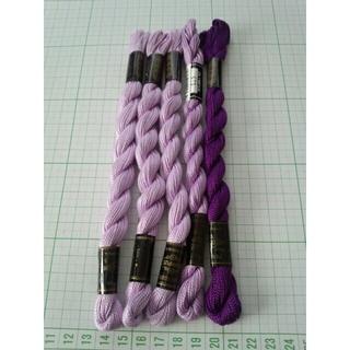 オリンパス(OLYMPUS)のOlympus 刺繍糸 PEARL COTTON5本セット(生地/糸)