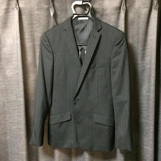 ハイストリート(HIGH STREET)の※値下げしました ハイストリート スーツ 上のみ 黒 ストライプ 夏物 Sサイズ(スーツジャケット)